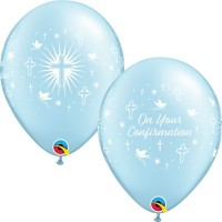 """On Your Confirmation 11"""" Blue Latex Balloons 25Ct"""