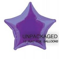 "Deep Purple - Star Shape - 20"" foil balloon (Pack of 12, Flat)"