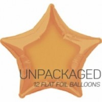"Gold - Star Shape - 20"" foil balloon (Pack of 12, Flat)"