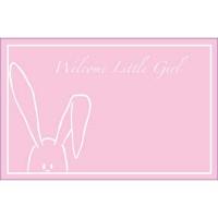 Welcome Little Girl Peekaboo Bunny Pink (Pack of 50)