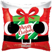 "Merry Christmas SQ 18"" Foil Balloon"