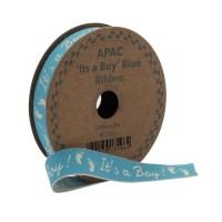 It's a Boy Blue Ribbon (15mm x 5m)