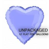 "Lavender - Heart Shape - 18"" foil balloon (Pack of 12, Flat)"