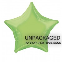 "Lime Green - Star Shape 18"" foil balloon (Pack of 12, Flat)"