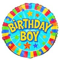 "Birthday Boy 18"" Foil Balloon"