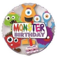 "Monsters Birthday 18"" Foil Balloon"