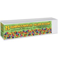 "Rainbow Flower Leis 40"" (Box of 25)"