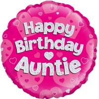 "Happy Birthday Auntie  - 18"" foil balloon"