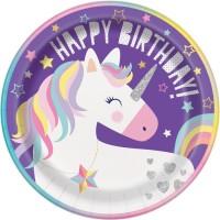 "Unicorn Party 9"" Plates 8ct"