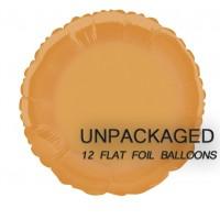 "Orange - Round Shape - 18"" foil balloon (Pack of 12, Flat)"
