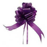 Purple Pull Bow 50mm - Pack of 20