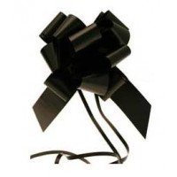 Black Pull Bow 50mm - Pack of 20