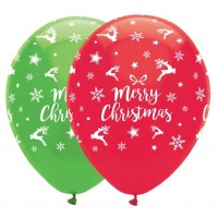 Merry Christmas - All Round Print 6Ct 11""