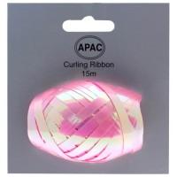 Iridescent Pink Ribbon Cop on Header 15m