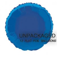 Royal Blue - Round Shape 18'' (Pack of 12, Flat)