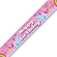 Happy Birthday Rainbow Unicorn Banner (9ft Holographic)