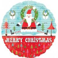 "Santa/Trees 18"" Foil Balloon"