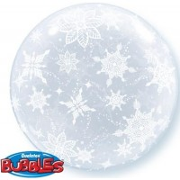 "Frosty Snowflakes 24"" Deco Bubble"