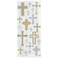 Radiant Cross Cello Bags Gold/Silver 20ct