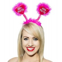 Hen Party Foil Hot Pink Bopper on a Quality Pink Heart
