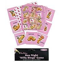 Hen Night Willy Bingo Game