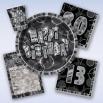 Birthday Glitz - Black/Silver
