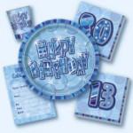 Birthday Glitz - Blue