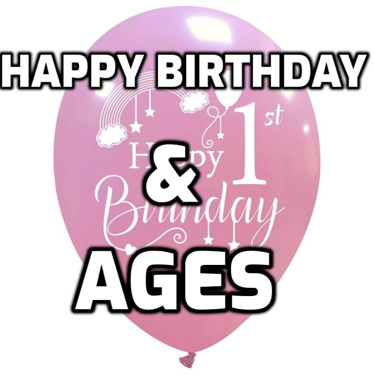 Happy Birthday & Ages (Big bag)