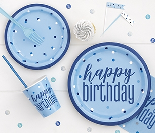 Birthday Glitz - Blue