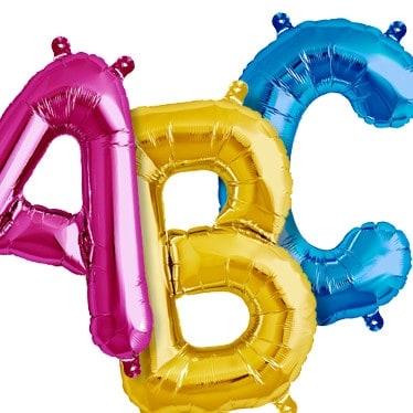 """Foil Letters 34"""" 16"""" 14"""""""
