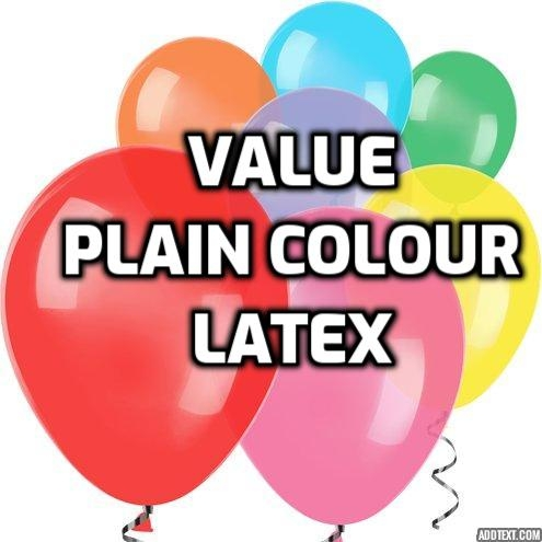 Value Plain Colour Latex