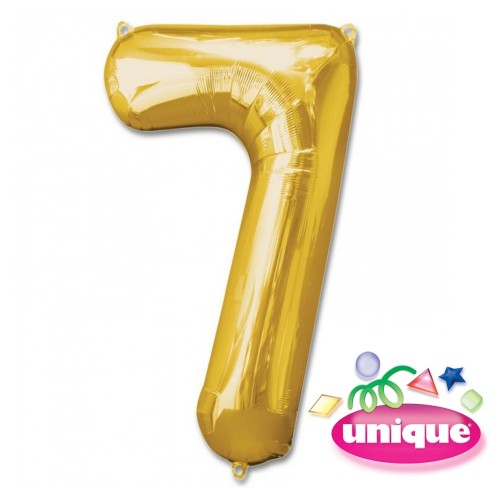 "34"" Gold Number 7 foil balloon"