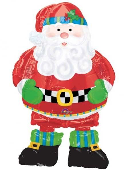 """Whimsical Santa Airwalker 37"""" Foil"""