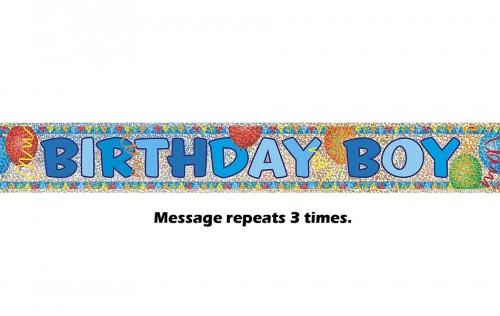 Birthday Boy Prismatic Banner - 12Ft.