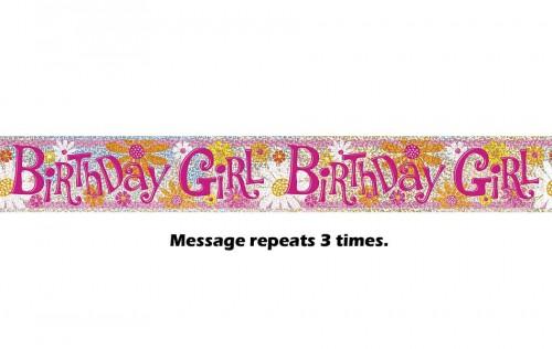 Birthday Girl Prismatic Banner - 12Ft.