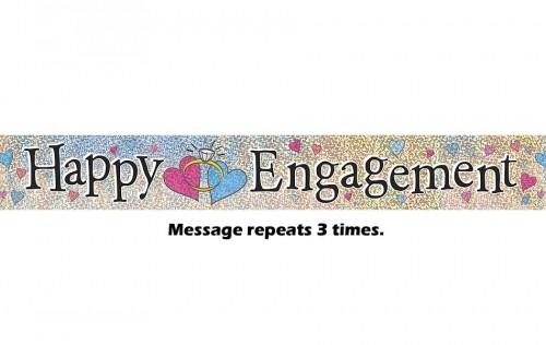 Happy Engagement Prismatic Banner