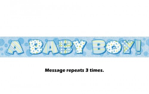 A Baby Boy Prismatic Banner - 12Ft.