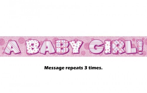 A Baby Girl Prismatic Banner - 12Ft.