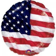 """American Flag - 18"""" foil balloon"""