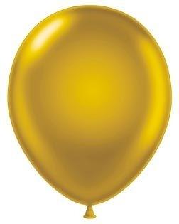 "12"" Gold Pearlised Afflotex Latex Balloons 100ct"
