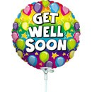 "Get Well Soon - 9"" Air Inflation Foil Balloon"