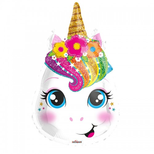 "Unicorn Head 18"" Foil Balloon"