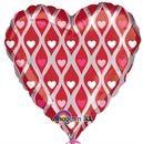 "Hearty Hearts (Flat) - 18"" foil balloon"