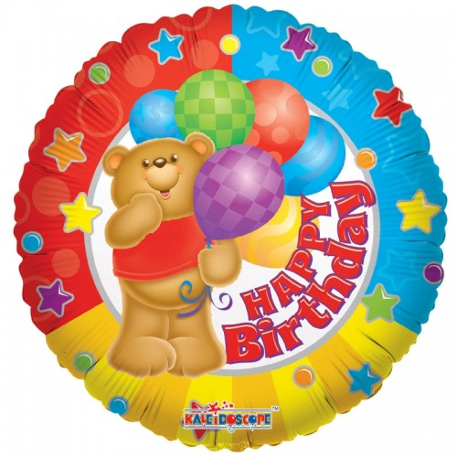 "Happy Birthday Bear - 18"" foil balloon"