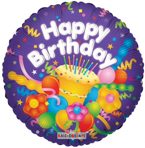 "Happy Birthday With Cake 18"" Foil Balloon"