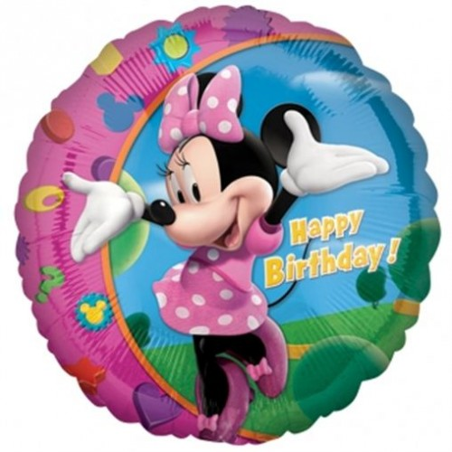 "Happy Birthday - Minnie Mouse - 18"" foil balloon"