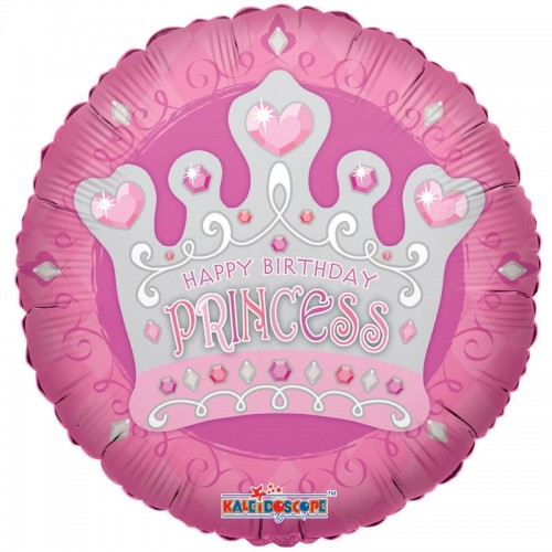 "Happy Birthday Princess Tiara - 18"" foil balloon"