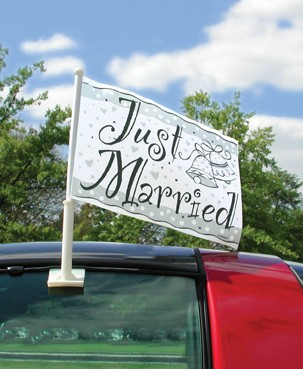 Wedding Car Flag - Just Married