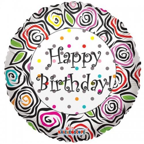 "Happy Birthday - Animal Prints - 18"" foil balloon"