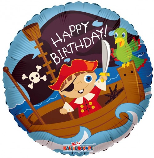 "Happy Birthday Pirate Boy - 18"" foil balloon"